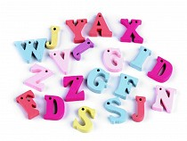 Dřevěná písmena abecedy, čísla