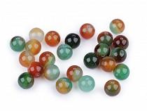 Ásványi gyöngyök multicolor agát Ø8 mm