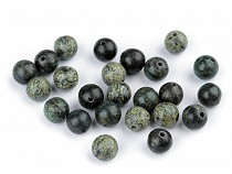Natural Mineral / Gemstone Beads Russian Green Srpentinite Ø8 mm