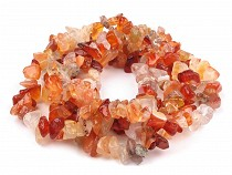 Gemstone Mineral Chips Beads on String Karneol