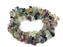 Gemstone Mineral Chips Beads on String Fluorit
