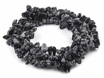 Mineral Chip Beads Obsidian on Nylon String