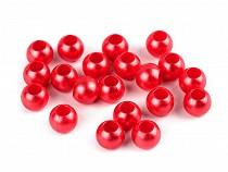 Plastové perly s veľkým prievlakom 8x10 mm