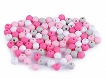 Matte Plastic Beads Ø6 mm