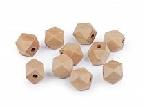 Koraliki drewniane nielakierowane 12x12 mm