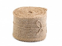 Natural Jute Burlap Ribbon Roll width 60 mm