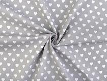 Pamut vászon anyag szív / karton