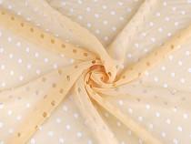 Chiffon Fabric, Perforated / Diamond shape holes