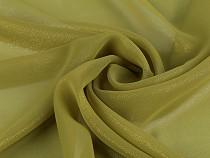 Šifón jednofarebný - zlatý lesk