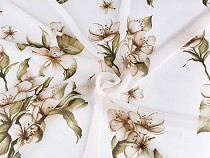 Chiffon Fabric with Golden Sheen, Flowers