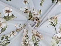 Chiffon Fabric with Golden Sheen, Flowers