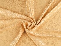 Flower Patterned Satin Fabric, double-sided