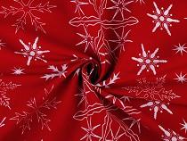 Material bumbac cu motive de Crăciun