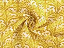 Baumwollstoff Loneta abstrakte Muster
