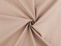 Dekorativer Baumwollstoff Loneta mit Punkten