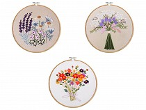 Embroidery Kit / Cross Stitch Set, Pre-printed Pattern
