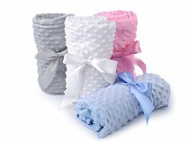Minky Plush Dot 3D Fabric and Ribbon 1x1.5 m