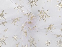 Organza with Glitter Snowflakes