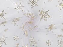 Karácsonyi organza glitteres pelyhekkel