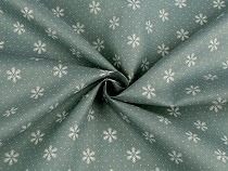 Decorative Fabric with Snowflakes