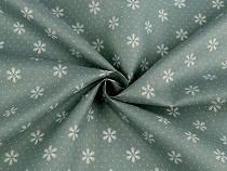 Tkanina dekoracyjna płatki śniegu
