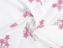 Tkanina wiskozowa kwiaty