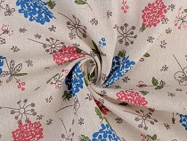 Cotton Fabric / Linen Imitation, printed