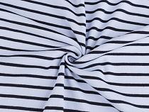 Baumwolljersey doppelseitig mit Streifen
