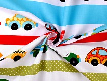 Cotton Fabric Cars