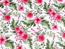 Bavlněná plenkovina / mušelín květy