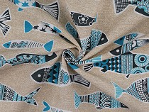 Decorative Fabric Loneta, Fish