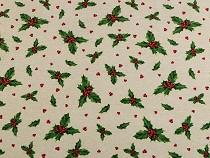 Dekorační látka Loneta vánoční / zimní
