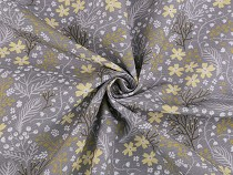 Decorative Fabric Loneta Flowers