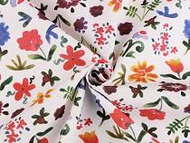 Dekostoff Loneta Blumen