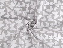 Material bumbac imprimat cu fluturi