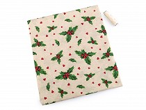 Christmas Decorative Fabric Loneta with matching thread
