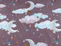Tkanina bawełniana chmury