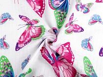 Pamut pelenka pillangó mintával
