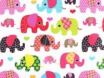 Baumwollstoff Elefant