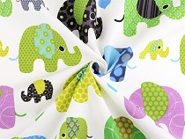 Cotton Fabric Elephant