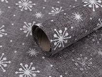 Jute Imitation width 48 cm Snowflakes