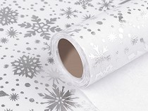 Tkanina dekoracyjna szerokość 48 cm motyw świąteczny