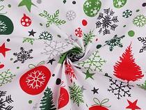 Tkanina bawełniana motyw świąteczny