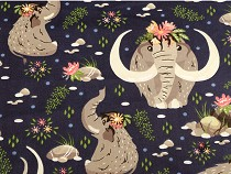 Cotton Fabric, Mammoth