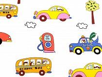Bavlněná látka auta / dopravní prostředky