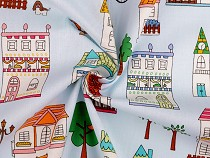 Cotton Fabric, Houses