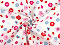 Cotton Fabric Flowers and Hearts