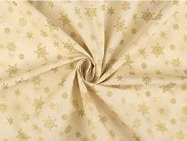 Tkanina bawełniana śnieżynki