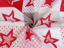 Material bumbac imprimat cu steluțe