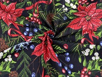 Christmas Cotton Fabric, Poinsettia